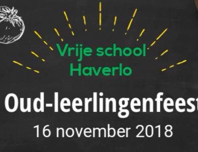 Oud-leerlingenfeest 16 november 2018